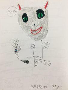 7. Devil Cat Miguel Rios drawing 2