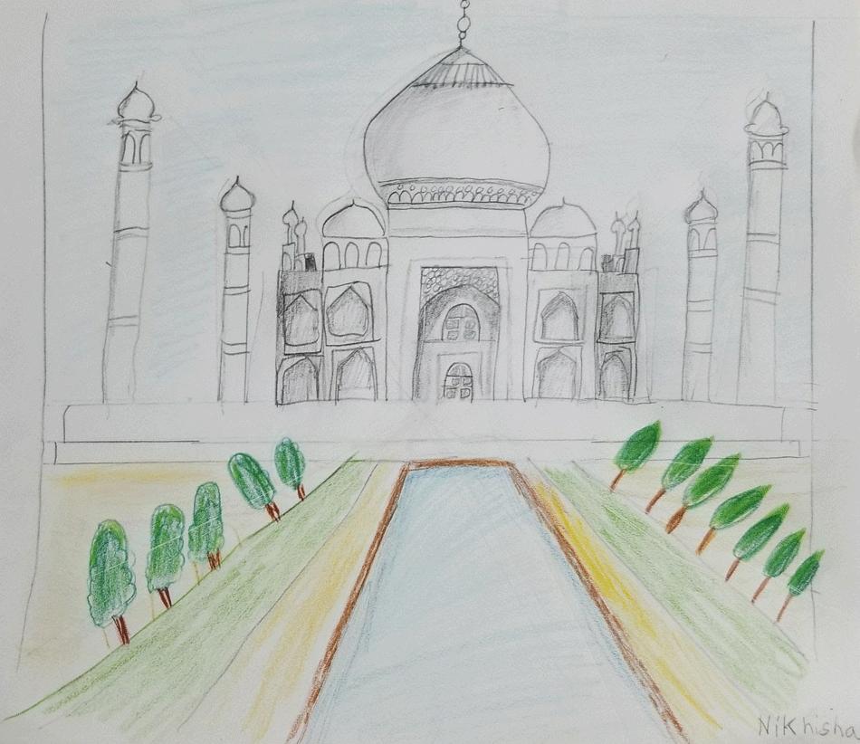 Art-(Taj-Mahal)