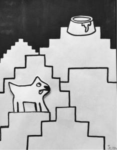 Thirsty Dog - by Jaienn Gurganious (G7)